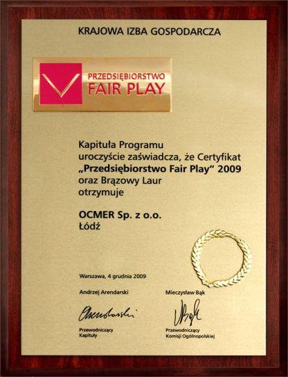 Przedsiębiorstwo Fair Play 2009