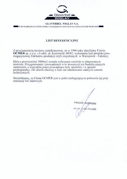 Hala produkcyjno-magazynowa - mazowieckie - AGC Warszawa S.A. (Glaverbel Wiglav S.A.)