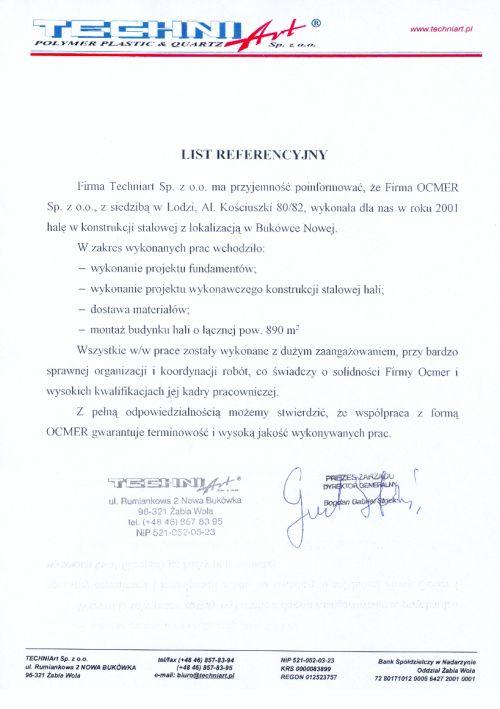Hala produkcyjno-magazynowa - mazowieckie - TECHNI-ART