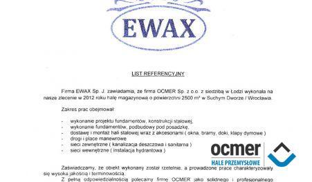 Czytaj więcej: EWAX, Suchy Dwór, hala magazynowa
