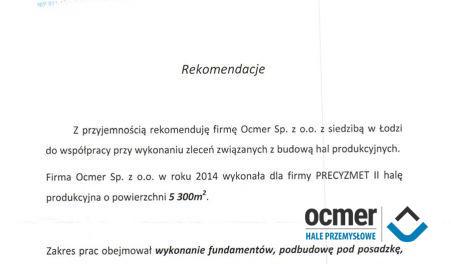 Czytaj więcej: PRECYZMET, Chechło k/Łodzi, hala produkcyjna