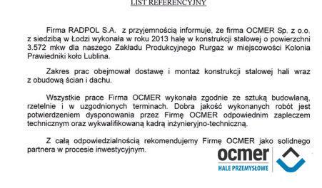 Czytaj więcej: RURGAZ Sp. z o.o., Prawiedniki k/Lublina, hala produkcyjna