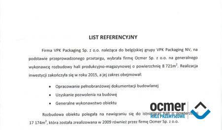 Czytaj więcej: VPK Packaging Sp. z o.o., Radomsko, hala produkcyjno-magazynowa