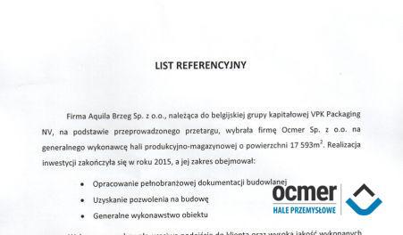 Czytaj więcej: Aquila Brzeg Sp. z o.o., Skarbimierz Osiedle, hala produkcyjno-magazynowa