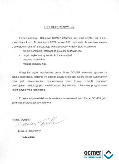 Hala handlowa - lubelskie - DOMEX