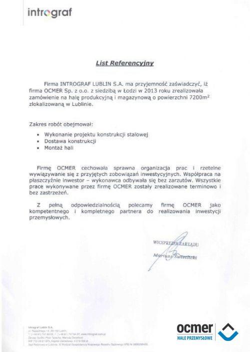 Hala produkcyjno-magazynowa - lubelskie - INTROGRAF