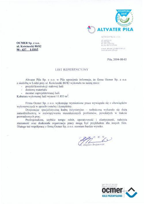 Sortownia odpadów - wielkopolskie - ALTVATER