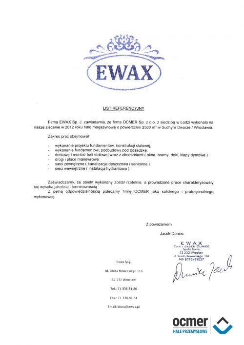 Hala magazynowa - dolnośląskie - EWAX