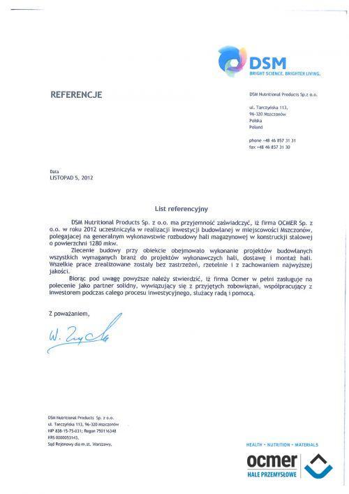 Hala magazynowa - mazowieckie - DSM Sp. z o.o.