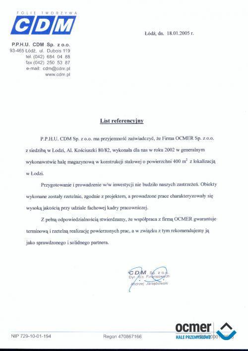 Hala magazynowa - łódzkie - CDM