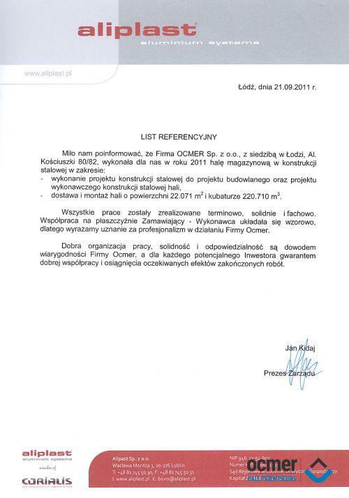 Hala produkcyjno-magazynowa - lubelskie - ALIPLAST Sp. z o.o.