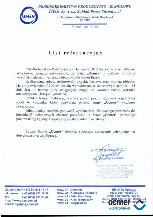 Hala produkcyjna - kujawsko-pomorskie - DGS